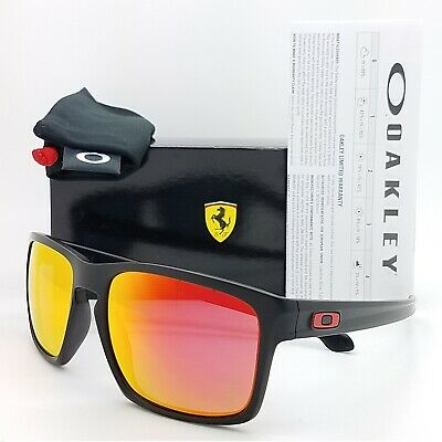 NEW Oakley Sliver sunglasses Matte Black Ruby Iridium AUTHENTIC Ferrari 9262-12