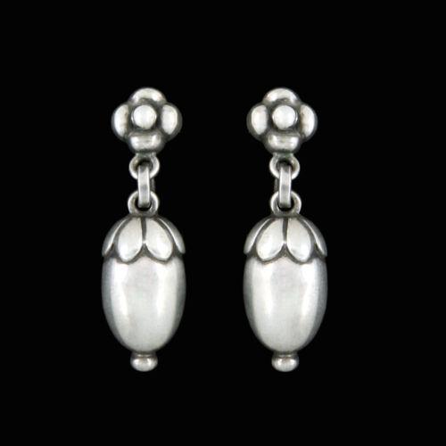 Georg Jensen. Sterling Silver Acorn Drop Earrings #4.