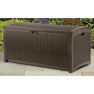 outdoor wicker storage ebay