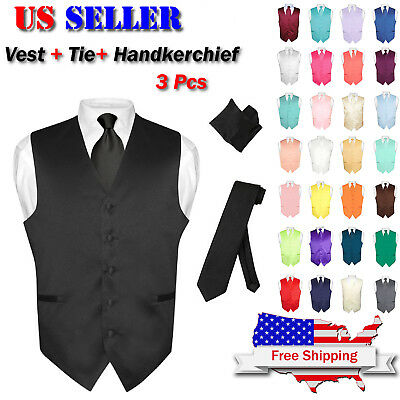 BOYS Dress Vest /& NeckTie Solid ROYAL BLUE Color Neck Tie Set