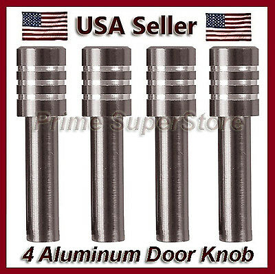 Charcoal Metal Finish (New Set Metal Billet Door Lock Knobs Auto/Car/Truck/SUV/RV Charcoal Finish 4 )