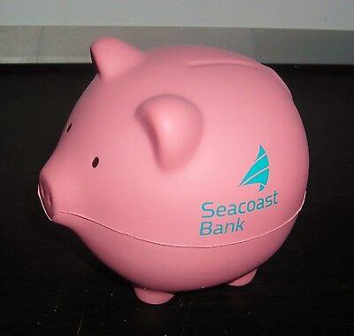 Seacoast Bank Pink Pig 3  Stress Ball