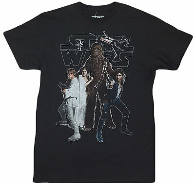 Han Solo Shirt (Star Wars Mens Chewbacca, Han Solo, Luke, Princess Leia Shirt NWT S, M,)