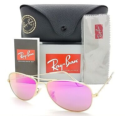 NEW Rayban Sunglasses Cockpit RB3362 112/4T 56 Gold Pink Cyclamen Flash (Cockpit Rb3362)