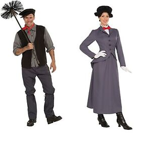 victorian mary poppins nanny chimney sweep bert fancy dress costume mens ladies ebay. Black Bedroom Furniture Sets. Home Design Ideas
