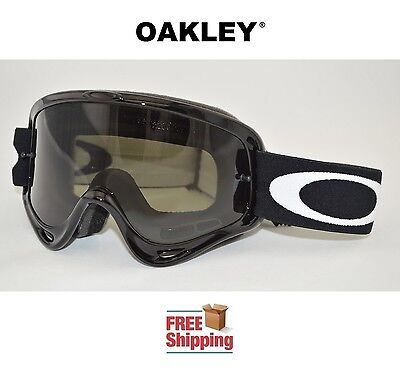 OAKLEY® O-FRAME® GOGGLES MX ATV MOTOCROSS MOTORCYCLE OFF ROAD JET BLACK TINTED
