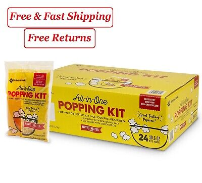 Members Mark Popcorn Kit With Coconut Oil 10.6 Oz. 24 Pk.