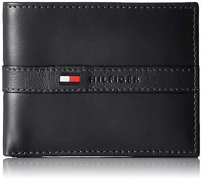 BRAND NEW TOMMY HILFIGER MEN'S LEATHER CREDIT CARD WALLET BI