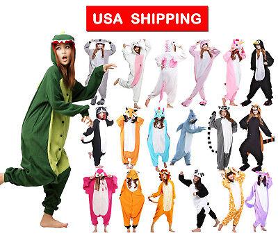 Adult Animal Costumes (Hot Unisex Adult Pajamas Kigurumi Cosplay Costume Animal Ones i Sleepwear)