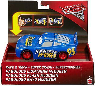 Disney Pixar Cars 3 Race & 'Reck Fabulous Lightning McQueen Vehicle