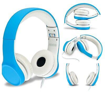 Volume Limited Toddler Kids Safety Headphones Blue Children Computer Headphones