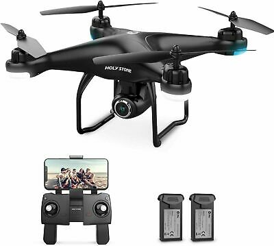 Pious Stone HS120D FPV Drone 1080p HD Camera GPS, 2 batteries, spare parts kit
