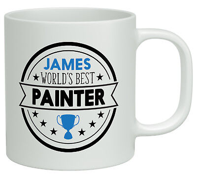 Personalised Any Name Worlds Best Painter White 10oz Novelty Gift Mug