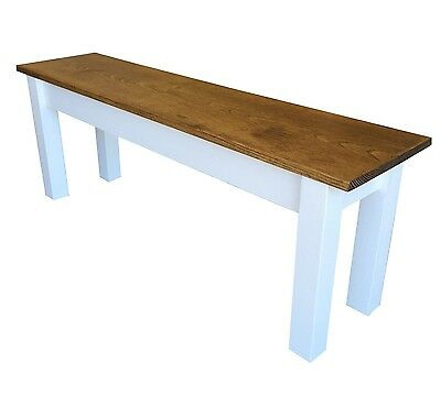 Mudroom Bench - Early American Farmhouse Bench (Rustic / Dinning / Entryway / Mudroom  Foyer)