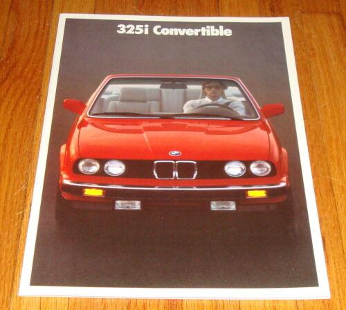 Original 1987 BMW 325i Convertible Sales Brochure