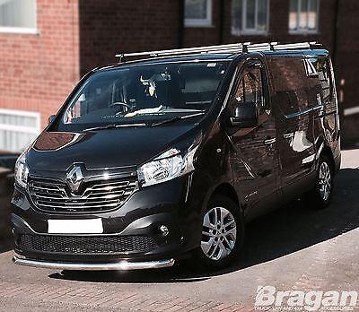 2014+ Renault Trafic Front Bumper Spoiler Nudge City Bar Stainless Steel Van