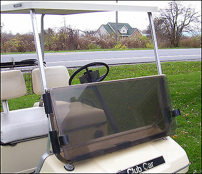 Fold Down Acrylic Windshield (Club Car DS Tinted Fold Down Acrylic Windshield 1982-2000.5 Golf Cart Parts OB )