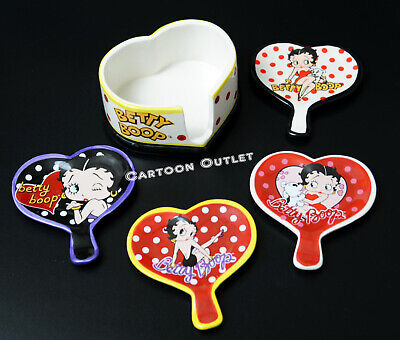 Betty Boop Gift Bag - BETTY BOOP KITCHEN SET DECORATION HEART SHAPE TEA BAG HOLDER CERAMIC CADDY GIFT