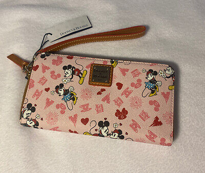 Disney Park Mickey & Minnie Mouse Love Dooney & Bourke Wristlet Wallet (B)