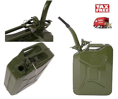 Jerry Can 5 Gallon 20l Gas Gasoline Fuel Army Nato Military Metal Tank Steel