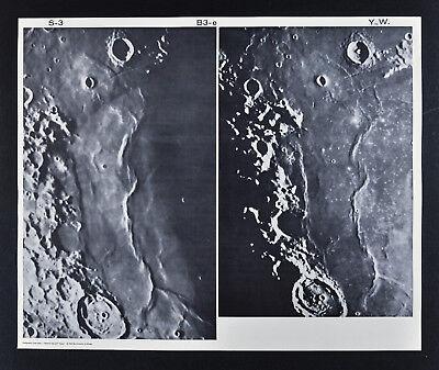 1960 Lunar Moon Map Photo Craters - Observatory Plates - Yerkes Y72 & Wilson W90