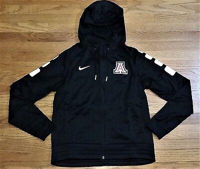 Arizona Wildcats Hoodie (New Nike Women's M Arizona Wildcats Elite Stripe Full Zip Jacket Hoody Black)