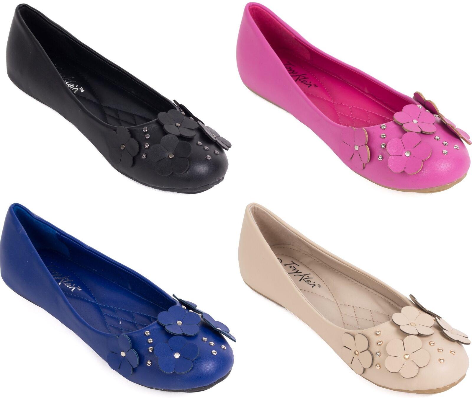 NEW * Women's Ballet Flats w/ Flowers Buckle, Ballerina Classic Slip On Shoes