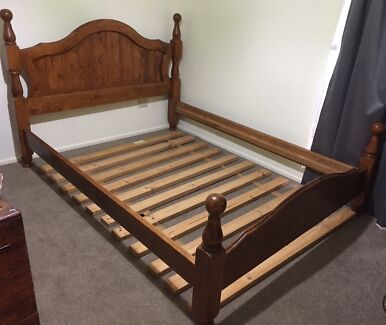 Solid Timber Queen Bed Frame, Can Deliver