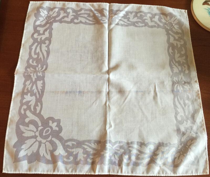 """Antique  Off White  Napkin  Vintage Damsk  17 1/2""""  x 18"""""""