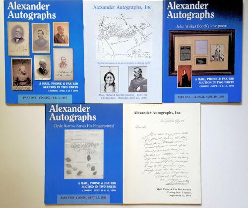 Lot of 5 Alexander Autographs Auction Catalogs