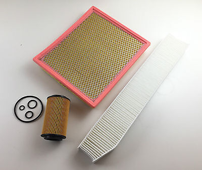Oil Filter Air Filter Pollen Filter Jeep Grand Cherokee II 2.7 CRD 4x4 120KW