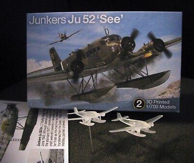 NEW! 1/700 Junkers Ju 52 'See' Transport Seaplane - (x3) 3D Printed - Sehr Nett!