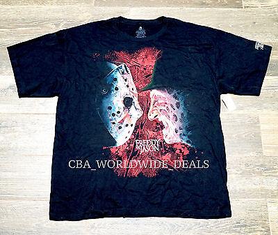 Universal Halloween Horror Nights 2015 Freddie vs. Jason Black T-Shirt S XL XXXL