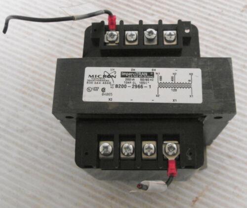 Micron Control B200-2966-1 ImperviTRAN Transformers 200VA 50/60Hz