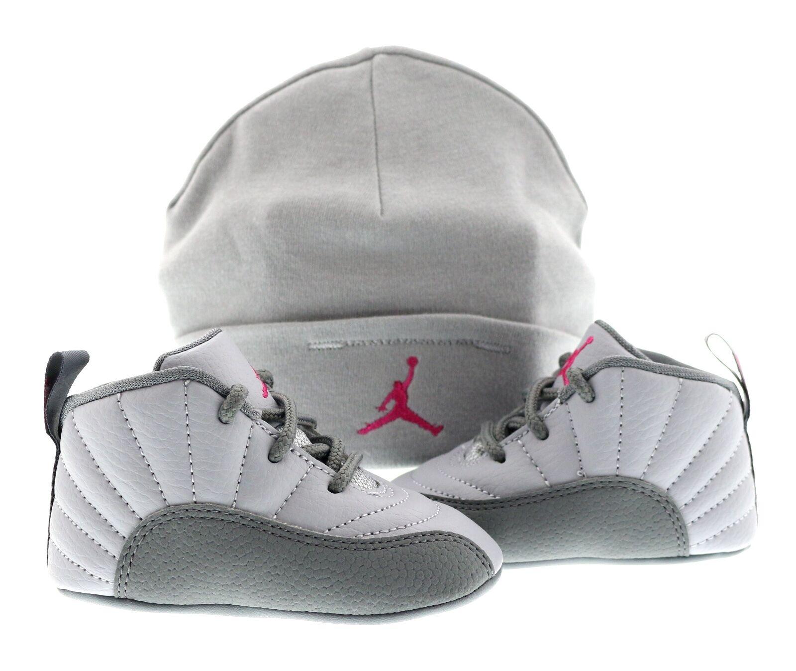 Baby Soft Bottom GP Jordan 12 Retro Grey Pink 029