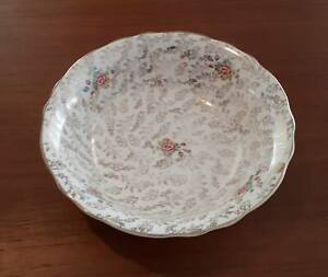Embassy, 3086, gold floral chintz serving dish or bowl