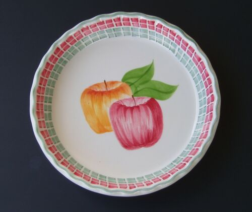 Laurie Gates Hand Painted Los Angeles California Pottery Apple Pie Plate Dish
