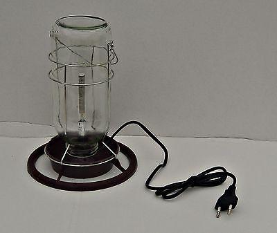 Vogeltränke mit Heizstab  , Volierentränke , Wasserspender .Glaseinsatz
