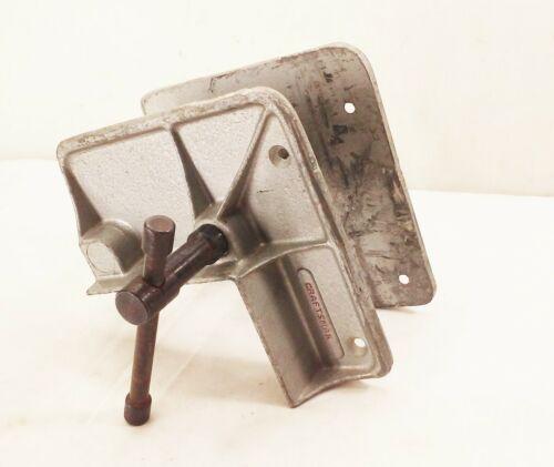 Vtg Craftsman heritage wood metal working corner frame vise clamp bench mount