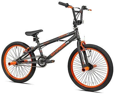 "Boys' Chaos BMX Bike 20"" Wheels and Steel Frame, Ages 8-12, Matte Orange"