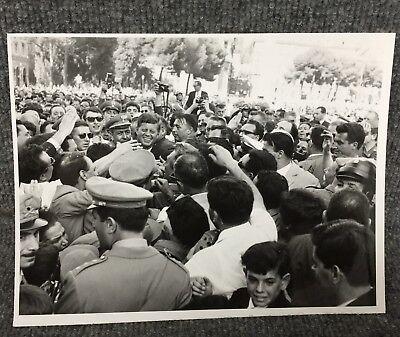 Vintage President John F Kennedy At Piazza Venezia Rome Original Press Photo E18