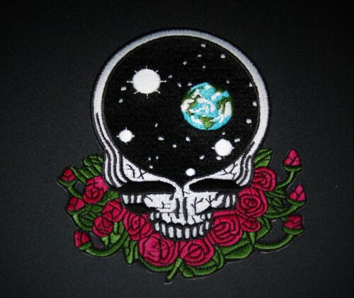 GRATEFUL DEAD EMBROIDERED PATCH JERRY GARCIA THE DEAD SPACE YOUR FACE