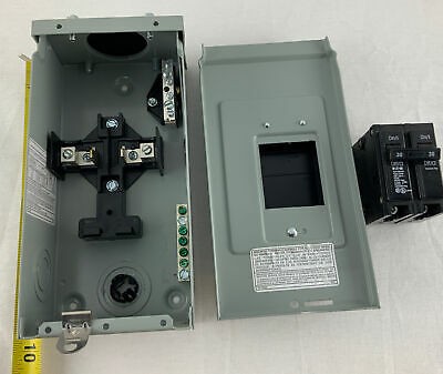 Eaton Br24l70rp Outdoor Load Center Main With 30a Eaton Breaker Box