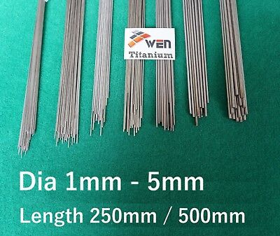 Titanium 6al-4v Wire Dia 1mm - 5mm Grade 5 Round Bar Ti Straight Welding Rod