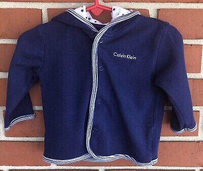 Calvin Klein Baby Boy's Blue Hooded Jacket Size 6-9 Months