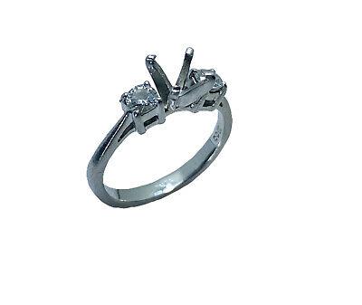 Platinum Diamond Engagement Ring Mounting Diamond Platinum Engagement Ring Mounting