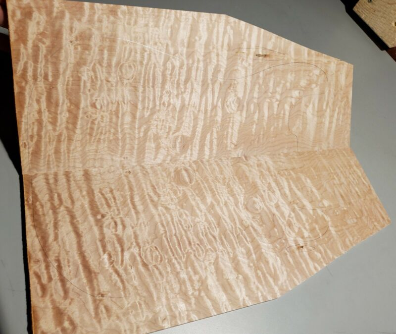 """Drop Top-#704--5A Grade Quilted Maple 20.50""""x16""""-14""""-11.5""""x.32"""""""