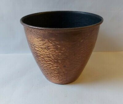 Vintage Artis England Hand Planished Copper Pot / Planter  Medium Size 12.7cm H