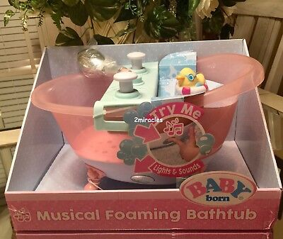 Used, Baby Born Doll Musical Bathtub Lights Sounds Real Working Shower *1DAY Ship* for sale  Johnston