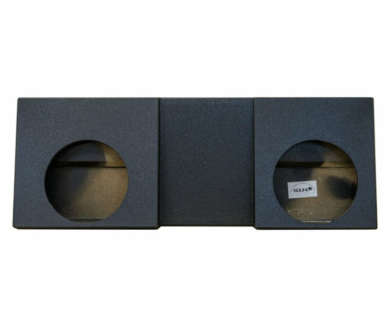"SoundBox Tacoma Double Cab 2005-2018 Dual 12"" Subwoofer Enclosure, BedLiner"